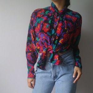 vintage Carlisle  silk blouse
